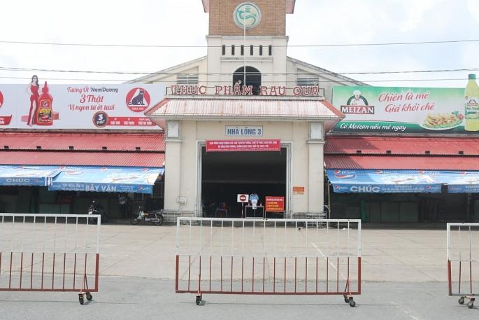 Ảnh các điểm chợ tại quận Ninh kiều tạm ngưng hoạt động theo chỉ thị 16.